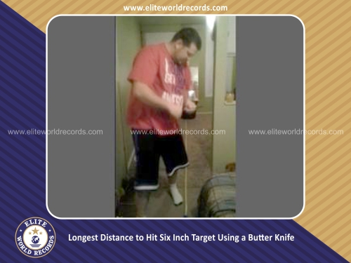 Longest Distance to Hit Six Inch Target Using a Butter Knife