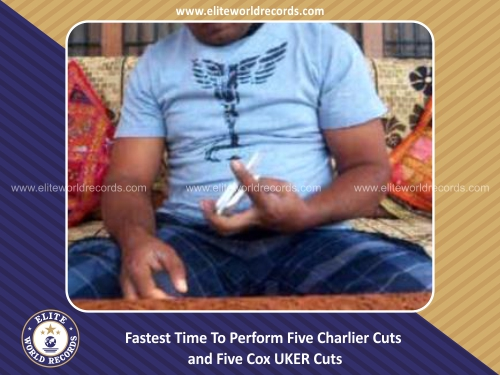 Fastest Time To Perform Five Charlier Cuts and Five Cox UKER Cuts