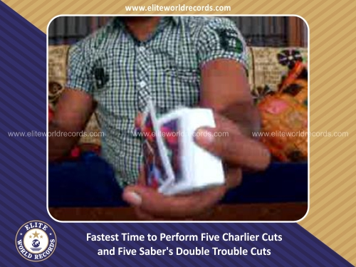 Fastest Time to Perform Five Charlier Cuts and Five Saber's Double Trouble Cuts