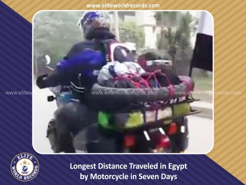 Longest Distance Traveled in Egypt by Motorcycle in Seven Days