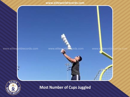 Most Number of Cups Juggled