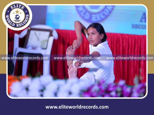 Most Number of Yogasanas Performed by an Individual (Minor-Female) in 15 Minutes